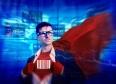Barcode Strong Superhero Success Professional Empowerment Stock