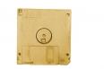 golden floppy disk