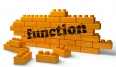 function word on yellow brick wall