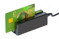 Card reader with credit card
