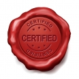 certified red wax seal