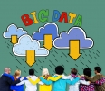 Big Data Storage Database Download Concept