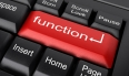 function word on red keyboard button