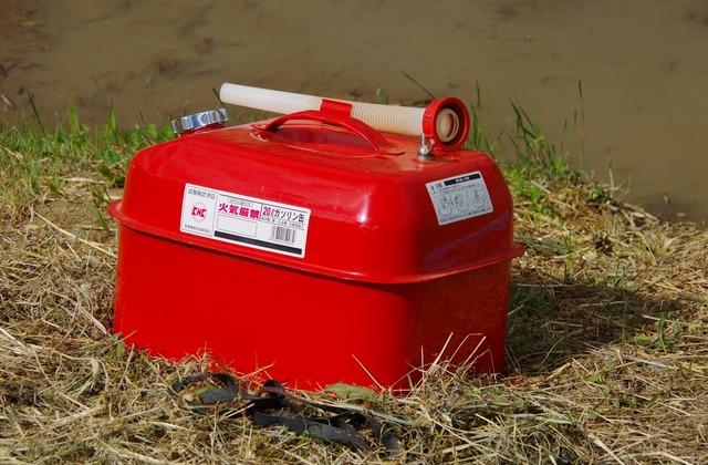 ガソリン携行缶の簡単な初歩や基本的な使い方・利用方法・仕様方法・やり方