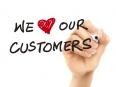 we love our customers words written by 3d hand