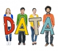 Group of Diverse People Holding Word Data